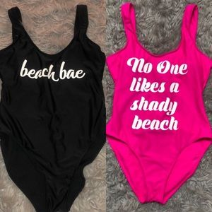 Other - X2 Swoop neck bathing suits get both!!! For $15